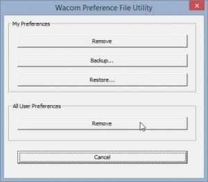 Wacom Preference File Utility