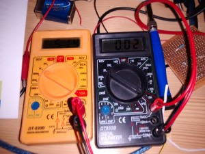 Multimeters used for current and voltage measurement