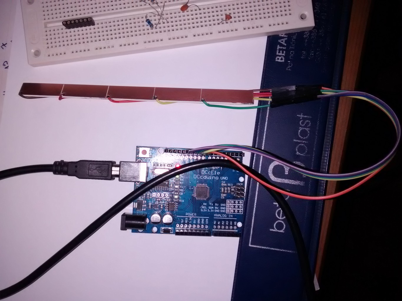 Arduino capacitive sensor and the friction drum